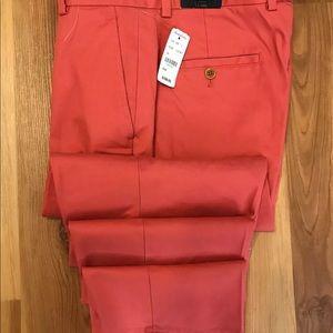 Brooks Brothers Clark Red Chino 33x30 NWT